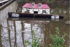Caseta de patos hundida tras el temporal (Münster)