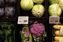 Coles de colores en un supermercado alemán (Münster)